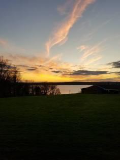 The beautiful Lake and sunset!