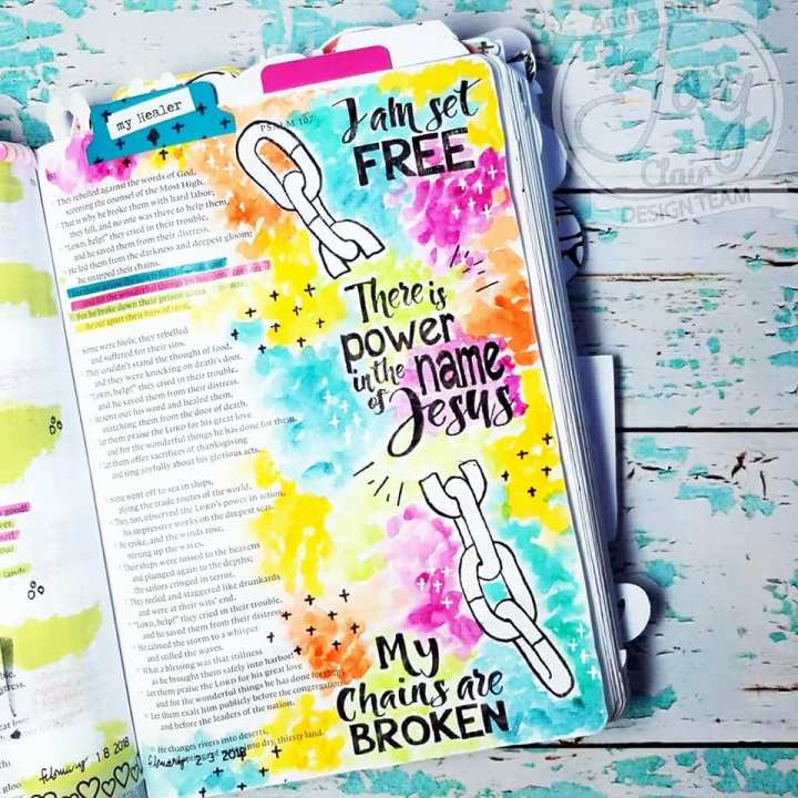 Bible Journaling with Joy Clair Stamps