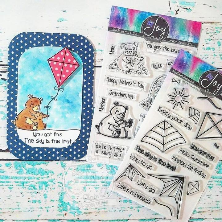 Joy Clair Stamps Life's A Breeze & Mother's Day Love EncouragementCard