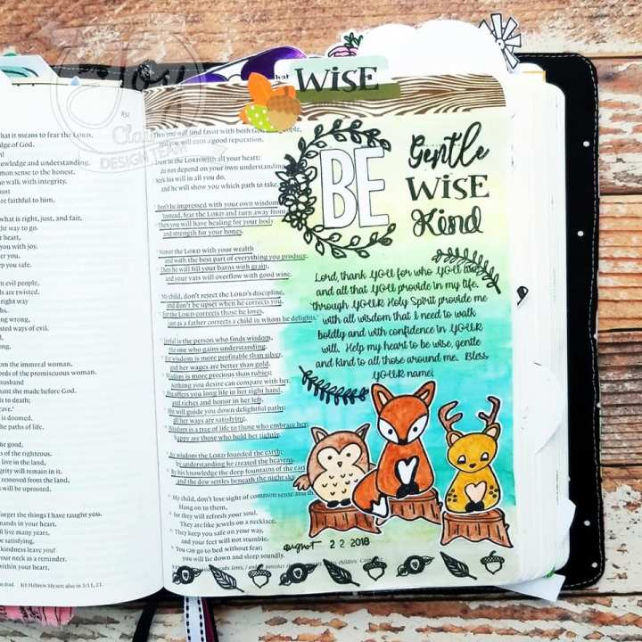 Bible Journaling with Joy Clair Deer Friends Stamp Set