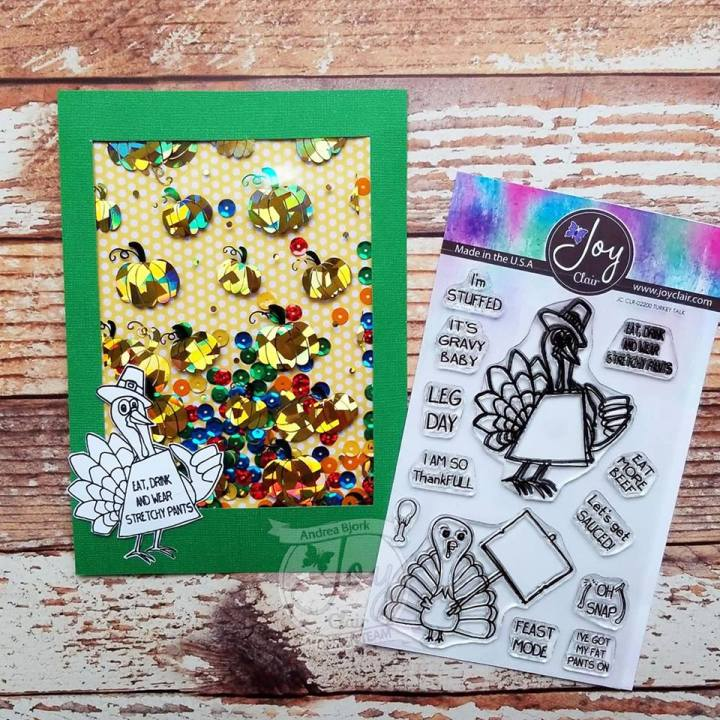 Using Therm O Web Deco Foils with Joy Clair Turkey Talk Stamp Set